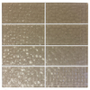 EPOCH Architectural Surfaces 8-Pack Grid Textured Glass Tan Glossy Glass Indoor/Outdoor Wall Tile (Common: 3-in x 6-in; Actual: 2.99-in x 5.98-in)