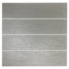 EPOCH Architectural Surfaces Grain Textured Glass 4-Pack Gray Glass Wall Tile (Common: 3-in x 12-in; Actual: 2.99-in x 11.81-in)