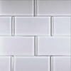 EPOCH Architectural Surfaces Alpinez 5-Pack Whites Glass Wall Tile (Common: 12-in x 12-in; Actual: 2.99-in x 5.94-in)