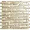 EPOCH Architectural Surfaces Brushstrokes Multicolor Beige Mosaic Glass Wall Tile (Common: 12-in x 12-in; Actual: 11.75-in x 11.87-in)