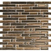 EPOCH Architectural Surfaces 5-Pack 12-in x 12-in Brushstrokes Brown Glass Wall Tile