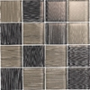 EPOCH Architectural Surfaces 12-in x 12-in Brushstrokes Multicolor Glass Wall Tile