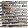 EPOCH Architectural Surfaces Brushstrokes Multicolor Gray Mosaic Glass Wall Tile (Common: 12-in x 12-in; Actual: 11.75-in x 11.87-in)
