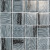 EPOCH Architectural Surfaces 5-Pack 12-in x 12-in Brushstrokes Gray Glass Wall Tile