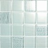 EPOCH Architectural Surfaces 5-Pack 12-in x 12-in Brushstrokes White Glass Wall Tile