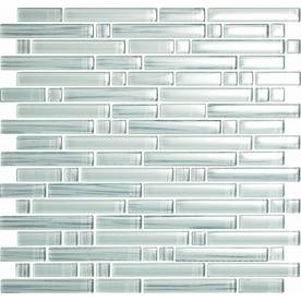 EPOCH Architectural Surfaces Brushstrokes 5-Pack Whites Mosaic Glass Wall Tile (Common: 12-in x 12-in; Actual: 11.75-in x 11.87-in)