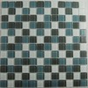 EPOCH Architectural Surfaces Brushstrokes 5-Pack Grays Uniform Squares Mosaic Glass Wall Tile (Common: 12-in x 12-in; Actual: 11.62-in x 11.62-in)