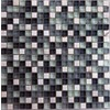EPOCH Architectural Surfaces 5-Pack 12-in x 12-in Cloudz Gray Glass Wall Tile