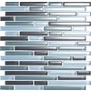 EPOCH Architectural Surfaces Color Blends 5-Pack Grays Mosaic Glass Wall Tile (Common: 12-in x 12-in; Actual: 11.75-in x 11.87-in)