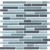 EPOCH Architectural Surfaces 5-Pack 12-in x 12-in Color Blends Gray Glass Wall Tile