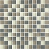 EPOCH Architectural Surfaces Color Blends Multicolor Green Uniform Squares Mosaic Glass Wall Tile (Common: 12-in x 12-in; Actual: 11.56-in x 11.56-in)