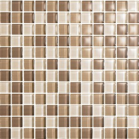 EPOCH Architectural Surfaces 5-Pack 12-in x 12-in Color Blends Brown Glass Wall Tile