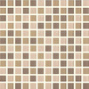 EPOCH Architectural Surfaces Cloudz 5-Pack Browns/Tans Uniform Squares Mosaic Glass Wall Tile (Common: 12-in x 12-in; Actual: 11.56-in x 11.56-in)