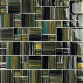 EPOCH Architectural Surfaces 5-Pack 12-in x 12-in Contempo Multicolor Glass Mosaic Wall Tile (Actuals 12-in x 12-in)