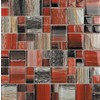 EPOCH Architectural Surfaces 5-Pack Color Blends Multi Glass Mosaic Wall Tile (Common: 12-in x 12-in; Actual: 11.75-in x 11.75-in)