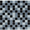 EPOCH Architectural Surfaces Contempo 5-Pack Blacks Uniform Squares Mosaic Glass Wall Tile (Common: 12-in x 12-in; Actual: 11.62-in x 11.62-in)