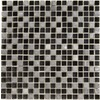 EPOCH Architectural Surfaces Dancez 5-Pack Blacks Uniform Squares Mosaic Glass/Metal/Stone Wall Tile (Common: 12-in x 12-in; Actual: 11.75-in x 11.75-in)