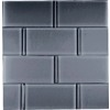 EPOCH Architectural Surfaces 5-Pack 12-in x 12-in Dancez Black Glass Wall Tile