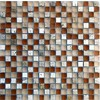 EPOCH Architectural Surfaces Desertz 5-Pack Browns/Tans Uniform Squares Mosaic Glass Wall Tile (Common: 12-in x 12-in; Actual: 11.81-in x 11.81-in)