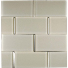 EPOCH Architectural Surfaces 5-Pack 12-in x 12-in Dancez Brown Glass Wall Tile