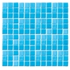 EPOCH Architectural Surfaces 12-in x 12-in Futerez Blue Glass Wall Tile