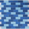 EPOCH Architectural Surfaces 5-Pack 12-in x 12-in Oceanz Blue Glass Wall Tile