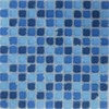 EPOCH Architectural Surfaces Oceanz 5-Pack Blues Uniform Squares Mosaic Glass Wall Tile (Common: 12-in x 12-in; Actual: 11.57-in x 11.57-in)