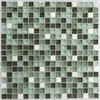 EPOCH Architectural Surfaces 5-Pack 12-in x 12-in Oceanz Green Glass Wall Tile