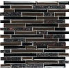 EPOCH Architectural Surfaces 5-Pack 12-in x 12-in Riverz Brown Glass Wall Tile