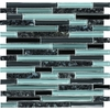 EPOCH Architectural Surfaces Spectrum Multi Mosaic Glass/Metal/Stone Wall Tile (Common: 12-in x 12-in; Actual: 11.75-in x 11.87-in)