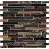 EPOCH Architectural Surfaces Riverz 5-Pack Browns/Tans Subway Mosaic Glass Wall Tile (Common: 12-in x 12-in; Actual: 11.75-in x 11.87-in)