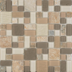 EPOCH Architectural Surfaces 12-in x 12-in No Ka 'Oi Multicolor Stone Wall Tile