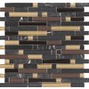 EPOCH Architectural Surfaces Varietals 5-Pack Multicolor Subway Mosaic Glass Wall Tile (Common: 12-in x 12-in; Actual: 11.75-in x 11.87-in)
