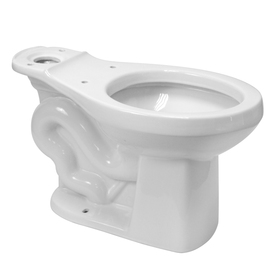 Project Source Standard Height White 12-in Rough-In Round Toilet Bowl