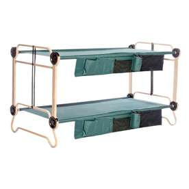 Disc-O-Bed 41-in Steel Disc-O-Bed, 2 Organizers and Set Of Leg Extensions