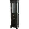 Wyndham Collection 18-in W x 65-in H x 16-in D Black Oak Freestanding Linen Cabinet