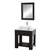 Wyndham Collection Zen Espresso Vessel Single Sink Oak Bathroom Vanity with Glass Top (Common: 30-in x 22-in; Actual: 30-in x 22-in)