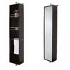 Wyndham Collection April 13.75-in W x 79.5-in H x 15.5-in D Espresso Oak Wall-Mount Linen Cabinet