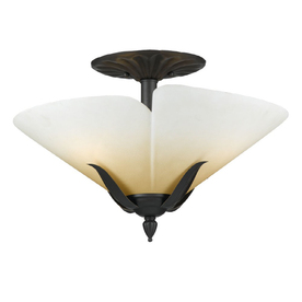 allen + roth 17.5-in W Semi-Flush Mount Light