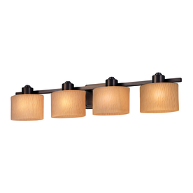 allen + roth 4-Light Grayson Dark Oil Rubbed Bronze Bathroom Vanity Light