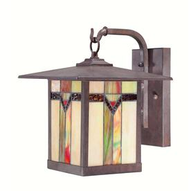 allen + roth Vistora 11-3/4-in Bronze Outdoor Wall Light