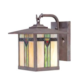 allen + roth Vistora 9-in Bronze Outdoor Wall Light
