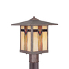 allen + roth Vistora 14.9-in H Bronze Post Light