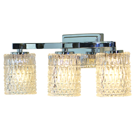allen + roth 3-Light Flynn Polished Chrome Bathroom Vanity Light