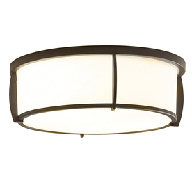 allen + roth 13-in W Dark Oil-Rubbed Bronze Flush Mount