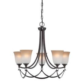 allen + roth 5-Light Drape Dark Oil-Rubbed Bronze Chandelier