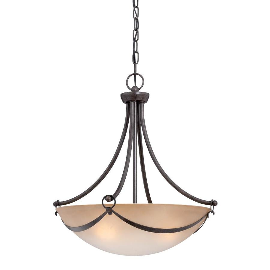 shop allen roth winnsboro 19 5 in w oil rubbed bronze pendant light with ma. Black Bedroom Furniture Sets. Home Design Ideas