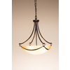 allen + roth Winnsboro 19.5-in Oil-Rubbed Bronze Single Marbleized Glass Pendant