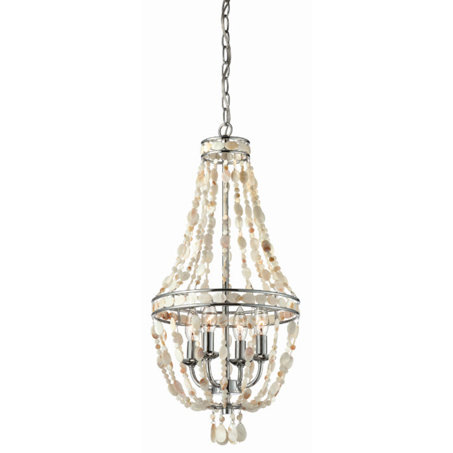 Shop Style Selections 4-Light Polished Chrome Chandelier at Lowes.com