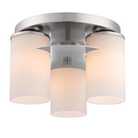 Style Selections 11.3-in W Brushed Nickel Ceiling Flush Mount Light